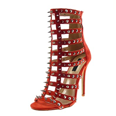 Stiletto Sandale Ouverte Chaussure Angkorly Mode Bottine xCBrdoe