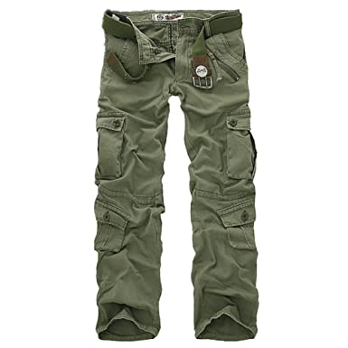 OnSaleWear Mens Vintage Military Army Hunting Camouflage Cargo Combat Pants  Cargo Pants for men 48d3dd6f521