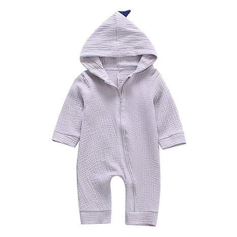 Ropa Bebé Recién Nacido, laamei Peleles Pijamas Mono Traje Mameluco Dinosaurio Disfraz de Navidad Manga