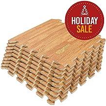 Interlocking Puzzle Wood Mat (Light Wood)