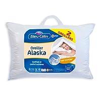 Bleu Câlin Lot DE 2 Oreillers Confort 'Alaska' Blancs OCPI