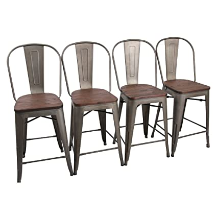 amazon com yongchuang counter bar stools chairs set for indoor
