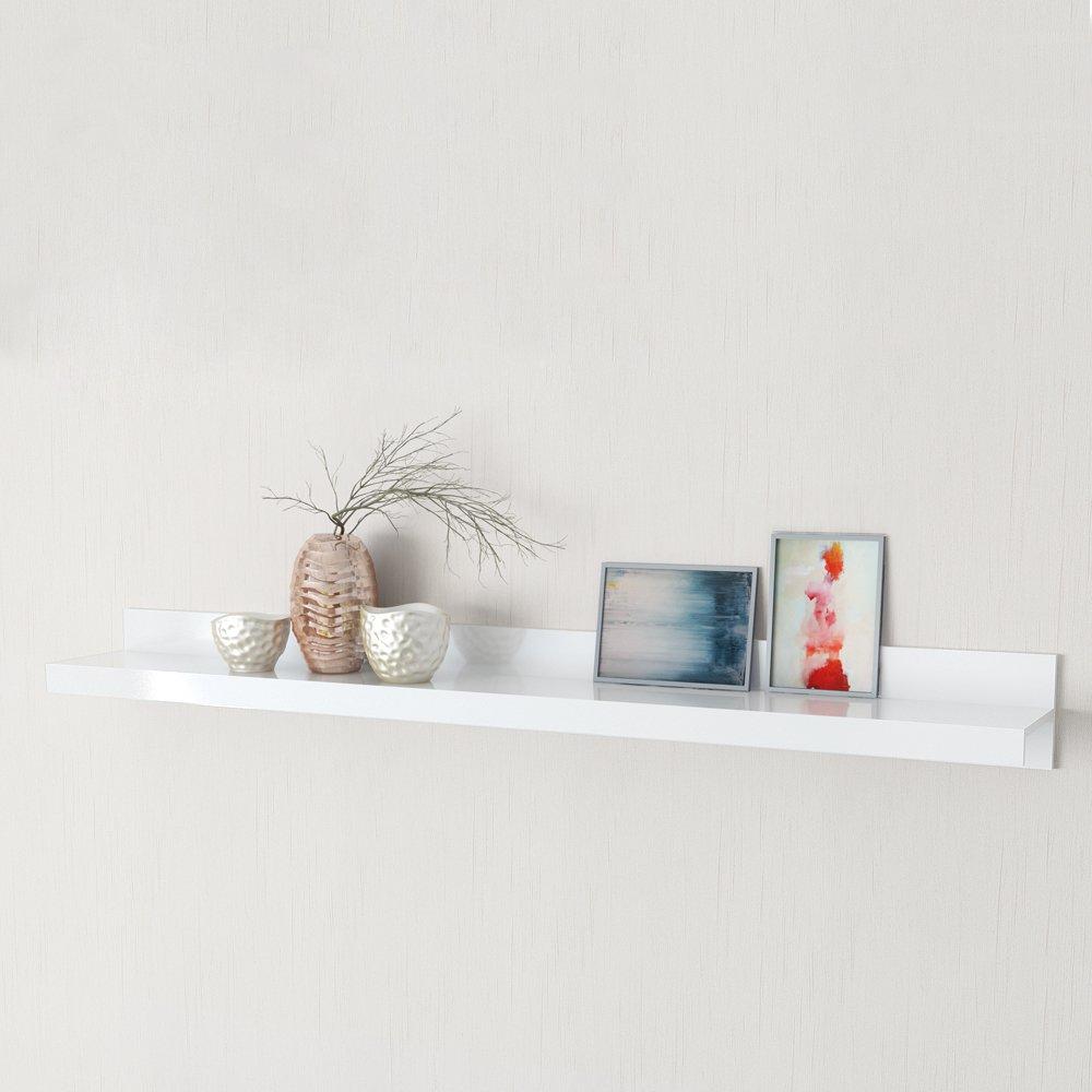 Tuoni Line Lot de 2 étagères - bois brillant - blanc