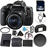 Canon EOS Rebel T6i DSLR Camera with EF-S 18-55mm f/3.5-5.6 IS STM Lens 0591C003 + 16GB SDHC Class 10 Memory Card + 58mm UV Filter + Carrying Case + Deluxe Cleaning Kit + Memory Card Wallet Bundle