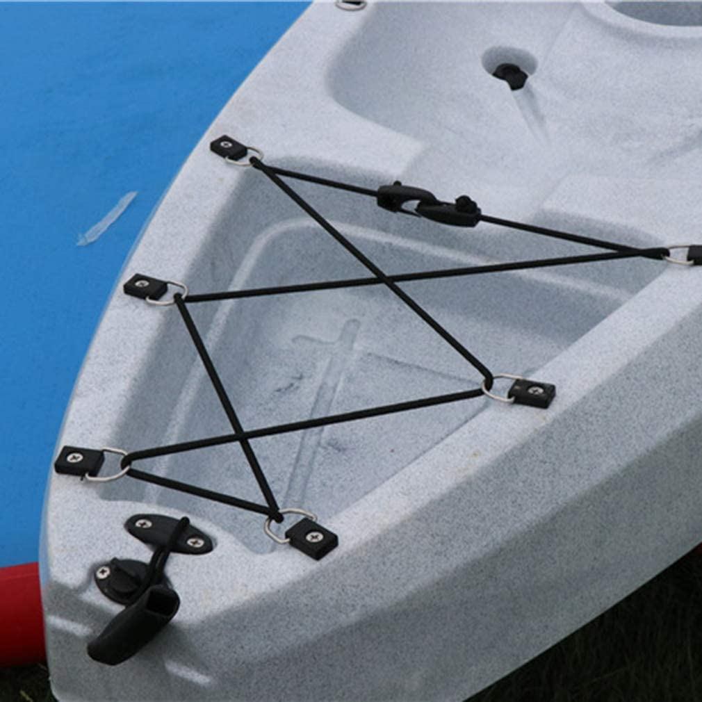 Hengxing Pack of 5 Safety Kayak D Rings Outfitting Accessory For Boat Canoe Kayak Fishing Rigging