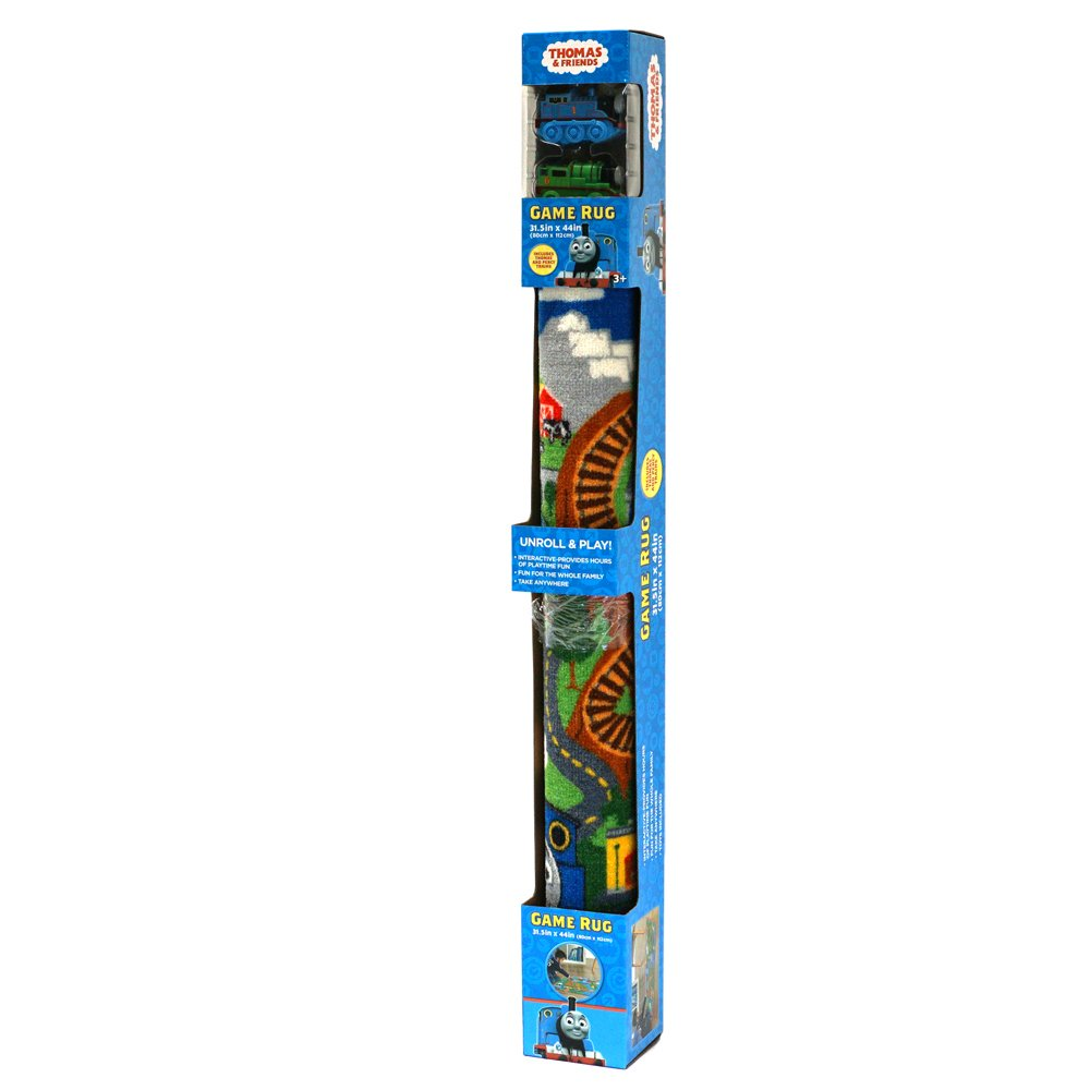 Thomas the Train Toys Rug - Percy + Thomas and Friends Toy Tank Engine incl. Blue Mountain Game Rugs, 32''x44''