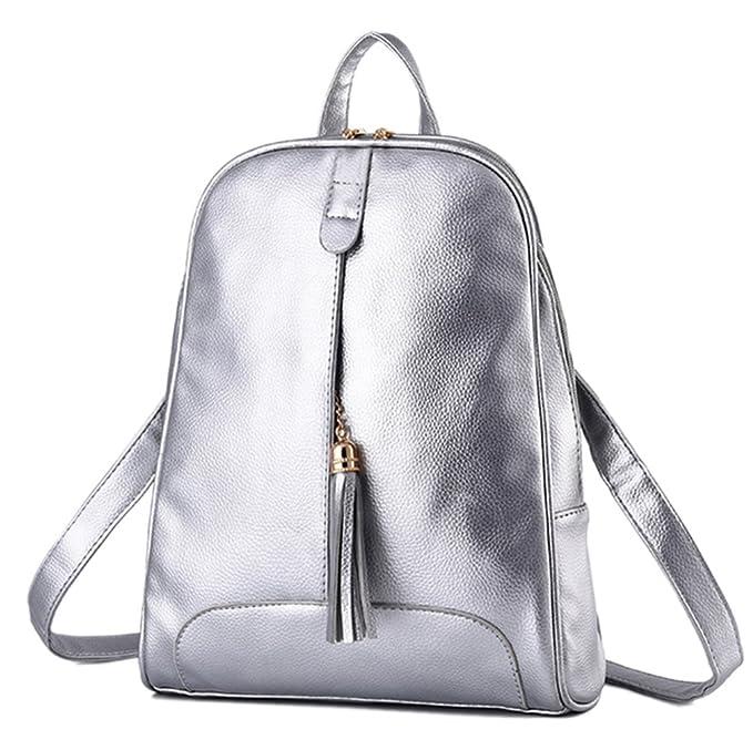 Lover - Bolso mochila para mujer Plateado plata Talla única: Amazon.es: Ropa y accesorios
