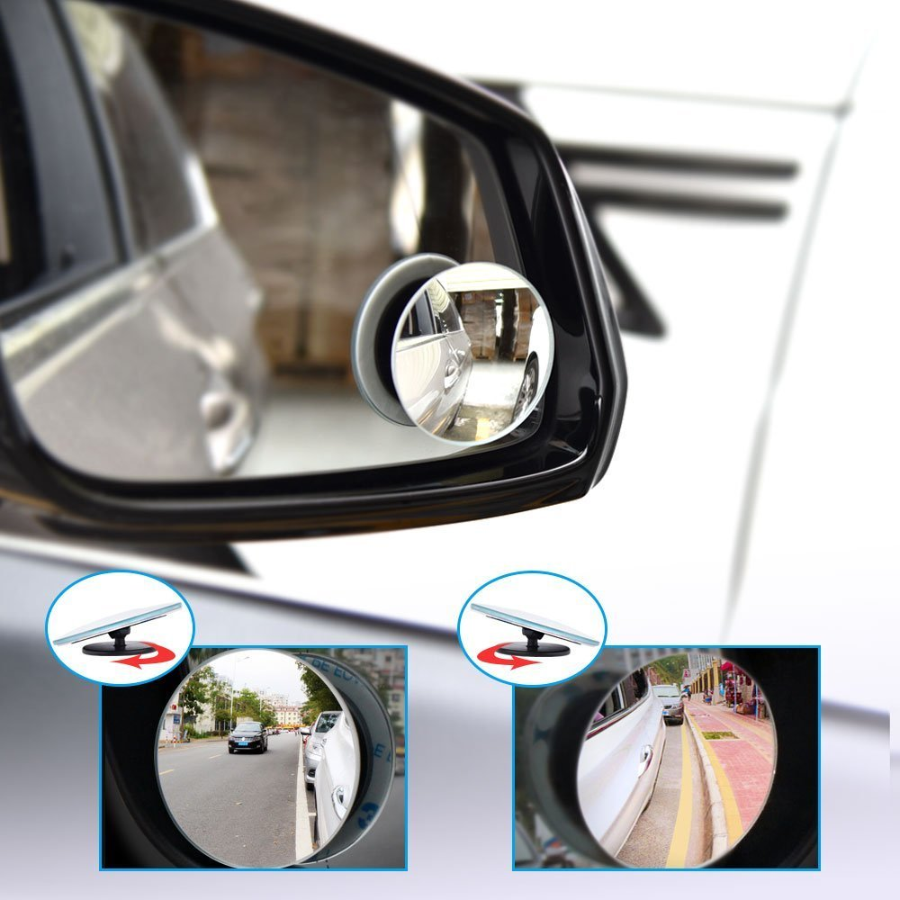 Blind Spot Mirrors for Cars GuangTouL HD Glass Convex Rear View Mirror Waterproof 360/°Rotatable Convex Rear View Mirror For Universal Cars 2 Pack