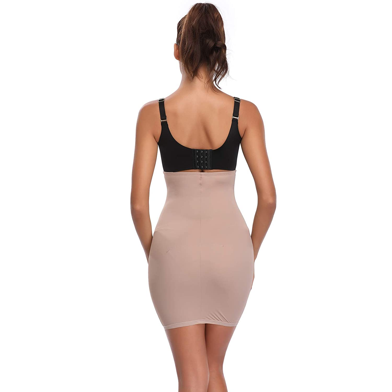 62657e5b69 Joyshaper Half Slips Shapewear for Women High Waisted Tummy Control Skirt  Slimming Shaping Waist Cincher Trimmer Trainer Girdle Seamless ...