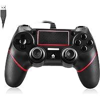 Powcan PS4 Controller kabelbunden kontroll för Playstation 4 dubbel vibration stöt joystick gamepad för PS4/PS4 Slim/PS4…