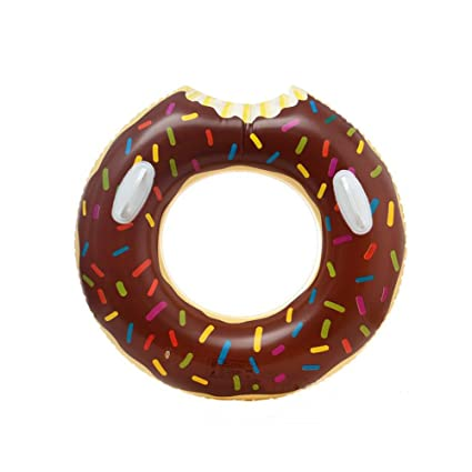 Inflatable Donut Swim Ring TOPIND Giant Inlatable Floating Children Summer Swimming Pool Kids Seat Boat Inflatable