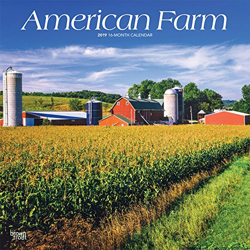 American Farm 2019 12 x 12 Inch Monthly Square Wall Calendar, USA United States of America Scenic Rural (Multilingual ()