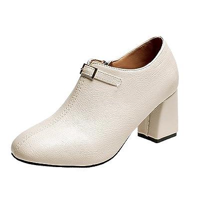DIMAOL Chaussures Pour Femmes Printemps Automne PU Talon Aiguille Talons Confort Pour L'Extérieur Rose Kaki Kaki,Noir,US5.5/EU36/UK3.5/CN35