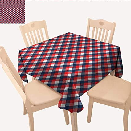 Pleasing Amazon Com Longbuyer Plaid Wrinkle Free Tablecloths Download Free Architecture Designs Terchretrmadebymaigaardcom