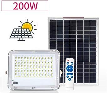 Solar Proyectores Led Exterior, Paneles Solares Focos Rural Luz Jardín Jardín patio Recreo Impermeable Foco Led Solar Exterior (Size : 200W): Amazon.es: Iluminación