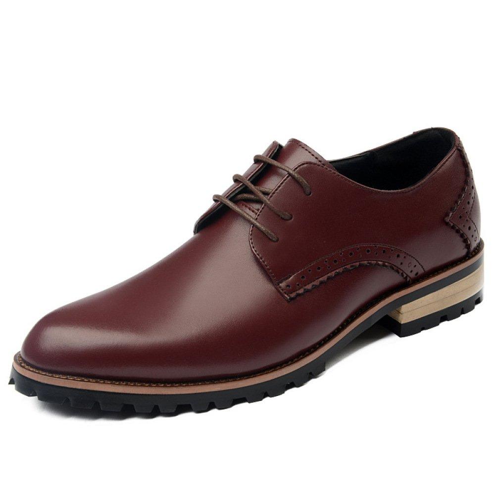 LEDLFIE Zapatos De Primavera Para Hombres Zapatos De Cuero Para Hombres Casuales Zapatos De Moda Para Hombres Zapatos De Marea 40 EU|Red