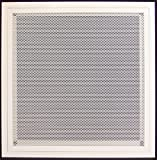 20''w X 30''h Aluminum Return Filter Grille with Easy Push Self Lock & Re-Useable Mesh Filter - Return Air HVAC Vent Duct