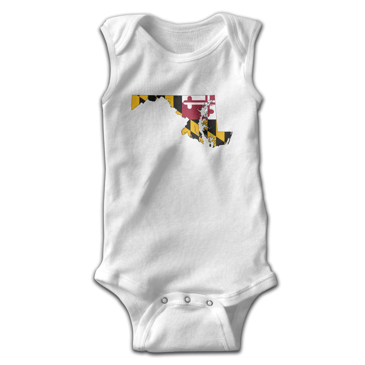 Efbj Toddler Baby Boys Rompers Sleeveless Cotton Jumpsuit,Maryland State Flag Outfit Winter Pajamas
