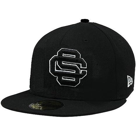 New Era Men s Bk Gy Basic Black charcoal Usc Trojans Fitted Hat Cap 59fifty  ( d47d14dfe13