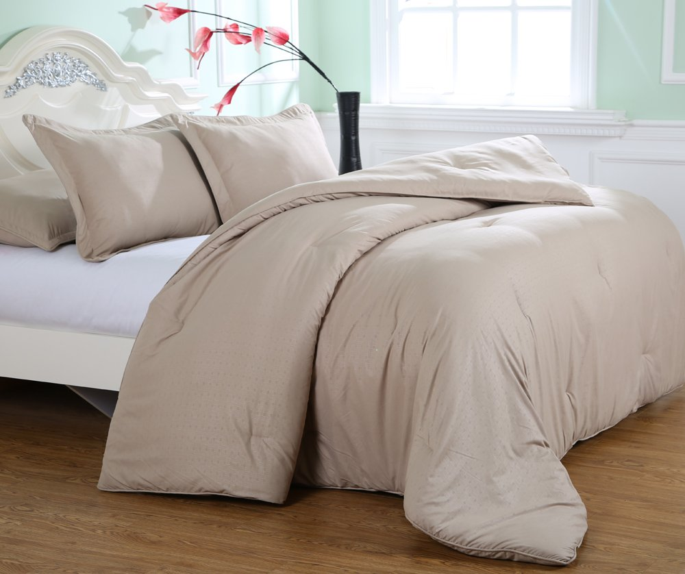 Affluence Luxury Microfiber Comforter King, Desert Grain