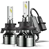 Marsauto 9008/H13 LED Headlight Bulbs,60W 16000LM 6500K Xenon White,M2 Series Hi/Lo Beam Conversion Kit with Fan