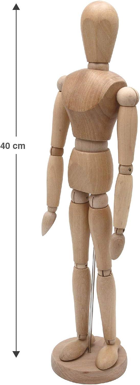Maniqu/í articulado para dibujo ideal como modelo para estudios de movimiento 20-50 cm de alto Meister FSC de fina madera zamak