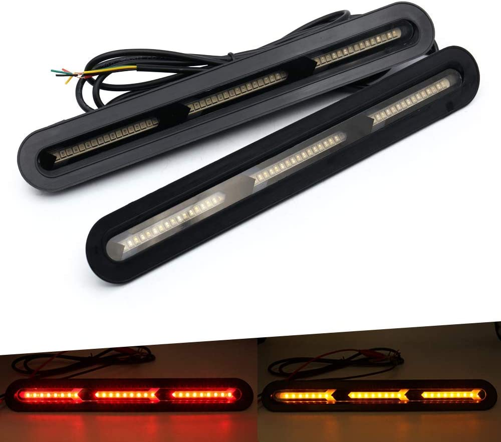 EXTRA Rear LED Light Bar Extra Tail-Brake Light and AMBER Turn Signal Functions Fit all Cars