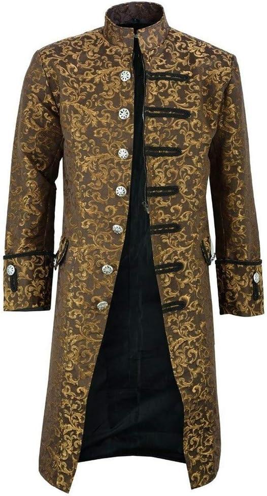 Steampunk Men/'s Gothic Long Sleeve Jacket Medieval Overcoat Victorian Retro Coat