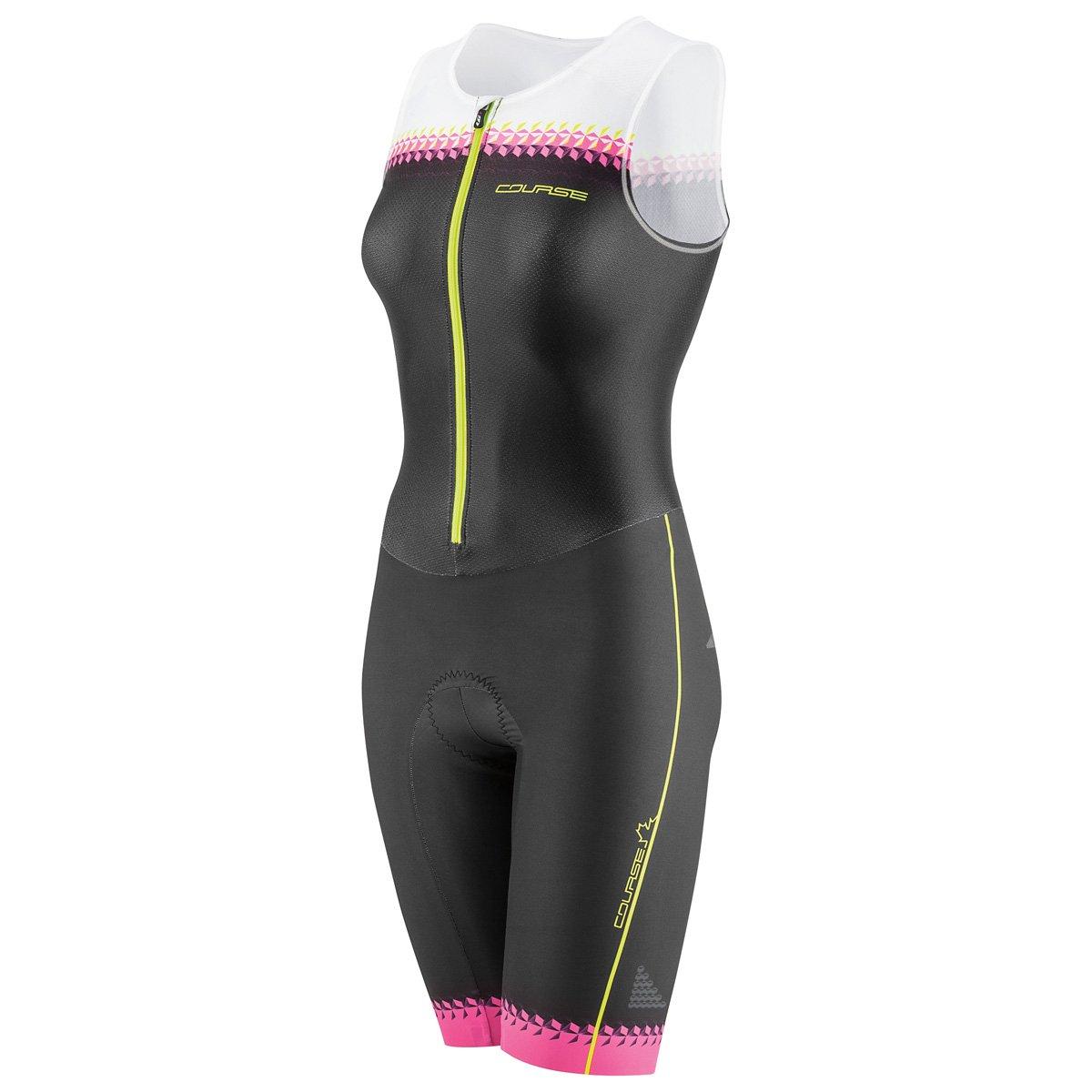 Louis Garneau Tri Course Club Suit - Women's Black/Pink Glow Large