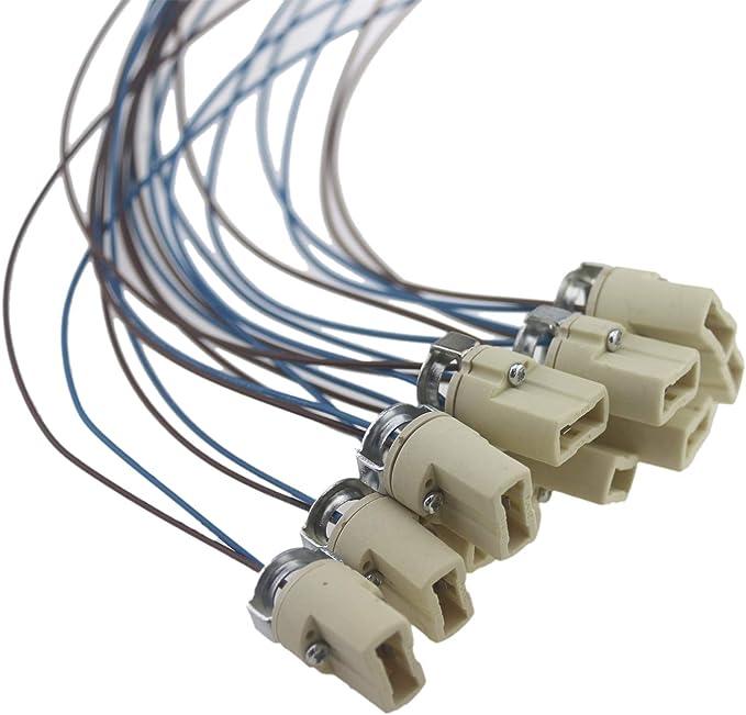 Ceramic Lamp Base Holders MR16 GU10 G4 G9 LED Bulb Socket Leads
