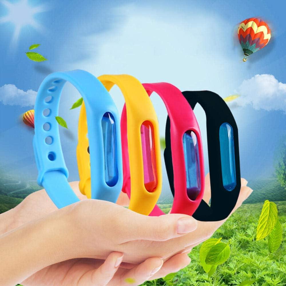 1PC Mosquito Killer Armband Silikon Armband Sommer Mückenschutz Armband Anti Mosquito Band Kinder Insektenvernichter-Orange Blue