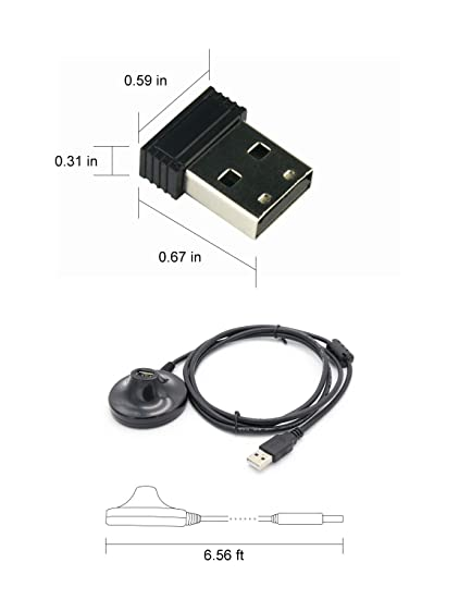 Amazon.com: CooSpo USB ANT+ Stick an Adapter for Zwift, Garmin, Sunnto, TacX, Bkool, CycleOps, TrainerRoad to Upgrade Bike Trainer (2 Meters Extension Cable ...