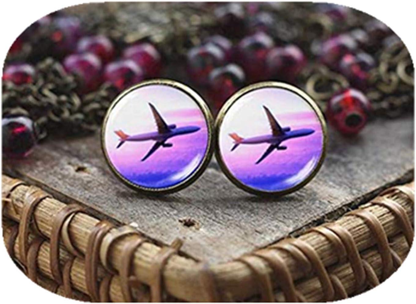 Pendientes de avión, pendientes de avión, pendientes de avión, pendientes de aviación piloto, regalo de viajero, pendientes de avión, un hermoso regalo.