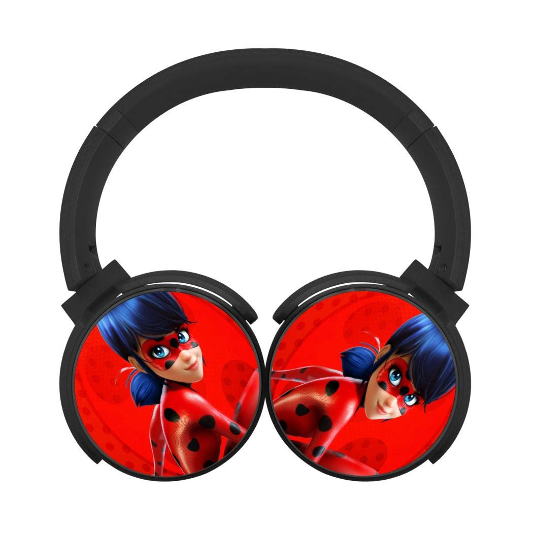 Mobile Wireless Bluetooth Headset Miraculous Ladybug 3D Printing Over Ear Headphones Black