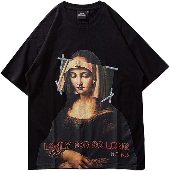 Divertido Mona Lisa Virgen María Hip Hop Camiseta Streetwear ...