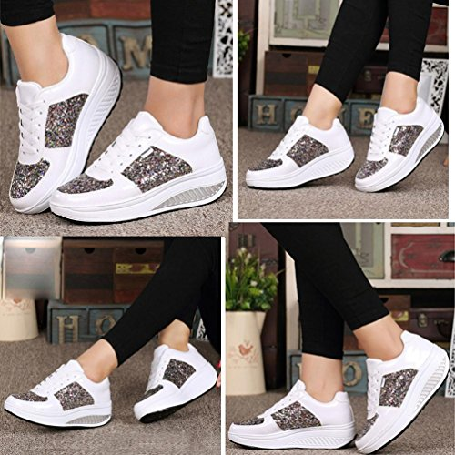 Donna Bags Ciclismo amp; Scarpe Shoes White UPXIANG da vwaY7zwq