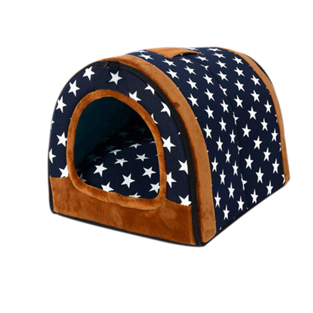 HJYCWW Kennel Washed golden Retriever Medium Dog House Four Seasons Cat Nest Keep Warm In Winter