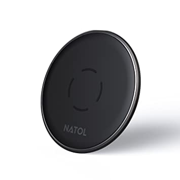 NATOL Cargador Inalámbrico Rápido, Wireless Charger Qi 10W para iPhone X / 8 / 8 Plus, Samsung Galaxy S9 Plus/S9/S8/Note 8 y Otros Dispositivos ...