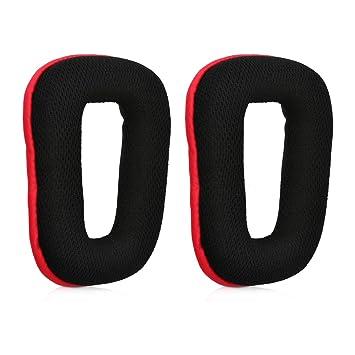 kwmobile 2X Almohadillas para Auriculares Logitech G430 / G35 / G930 / F450 - Almohadillas de