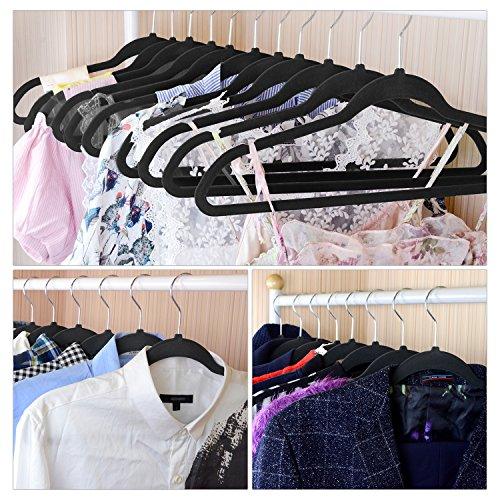 IEOKE Velvet Hangers Clothes Hangers Non Slip Coat Hangers Ultra Thin Space Saving with Heavy Duty 360 Swivel Hanger Hook - 30 Pack