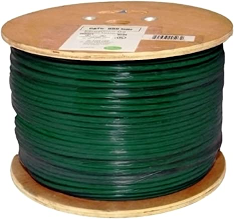 1000ft Red 550 MHz Bulk Ethernet Cable Vertical Cable Cat6 Shielded 23AWG Solid Bare Copper