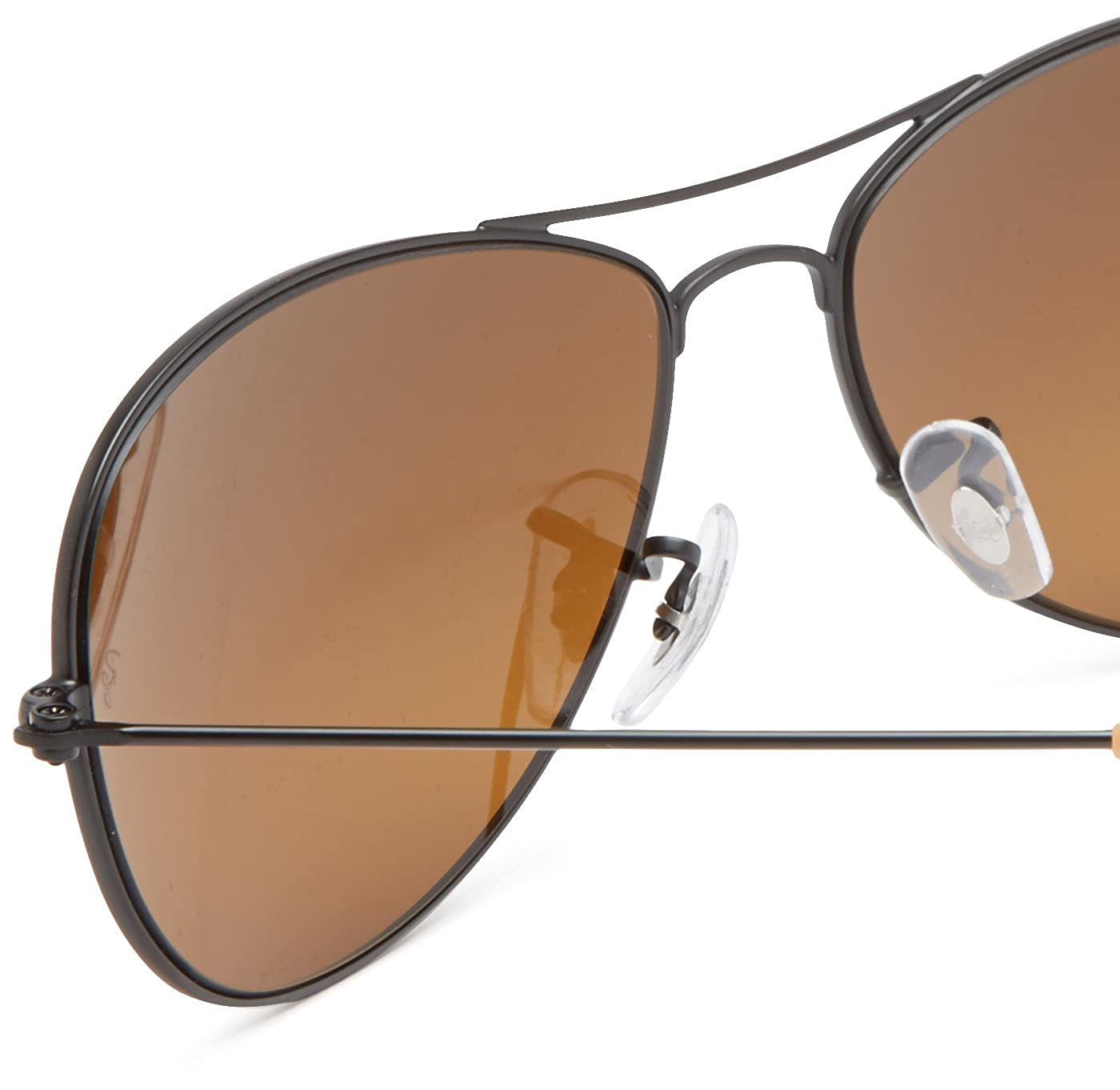 85080e75a9 Ray-Ban COCKPIT - MATTE BLACK Frame BROWN SILVER MIRROR GRADIENT Lenses  56mm Non-Polarized  Amazon.in  Clothing   Accessories