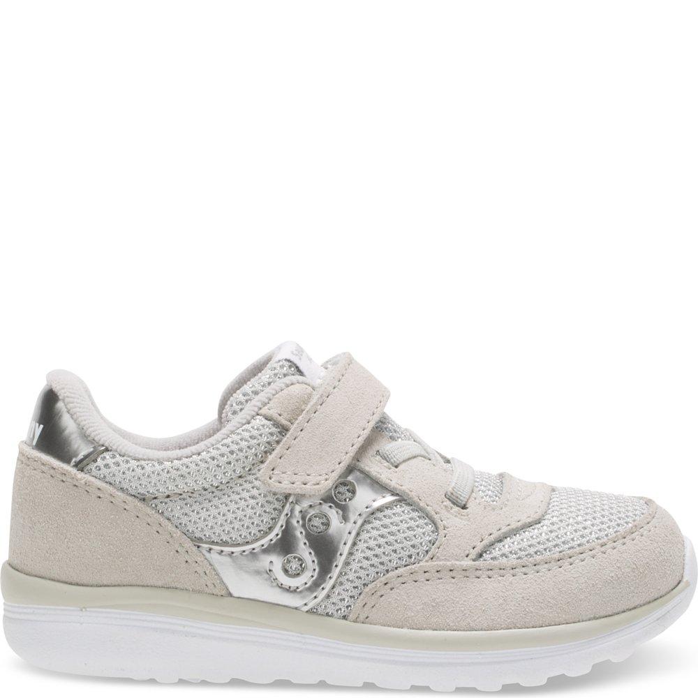 Saucony Baby Jazz Lite Sneaker (Toddler/Little Kid/Big Kid), Silver Metallic, 10 M US Toddler