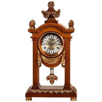 LANSEL Taiwán Reloj Reloj de Cuarzo - ZUOZ27 Retro Europeo Sala de Estar Decoración del hogar Mute Movimiento Péndulo Reloj Moda Reloj Antiguo: Amazon.es: ...
