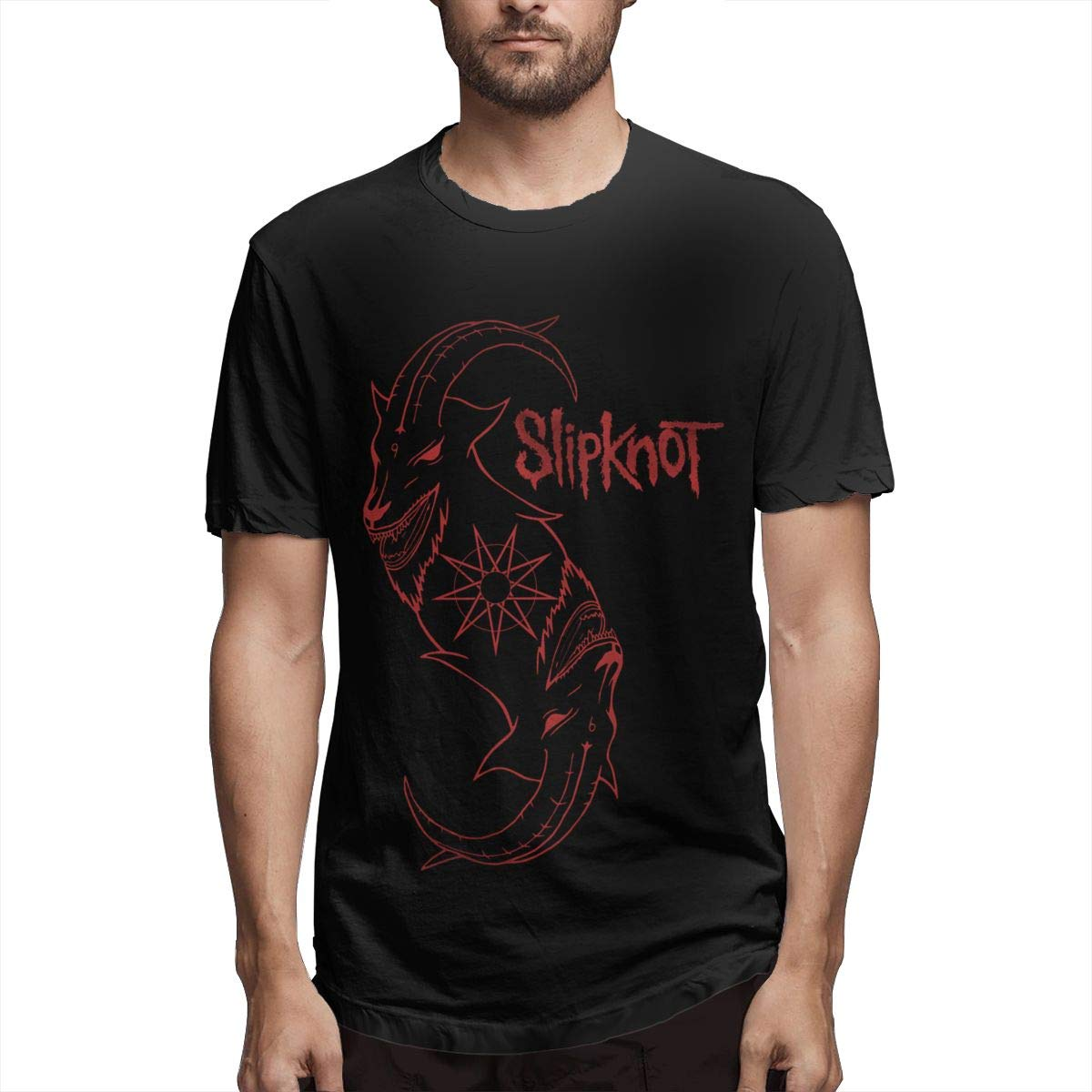 Smooffly S Slipknot Print Casual Crew Neck Short Sleeves T Shirts