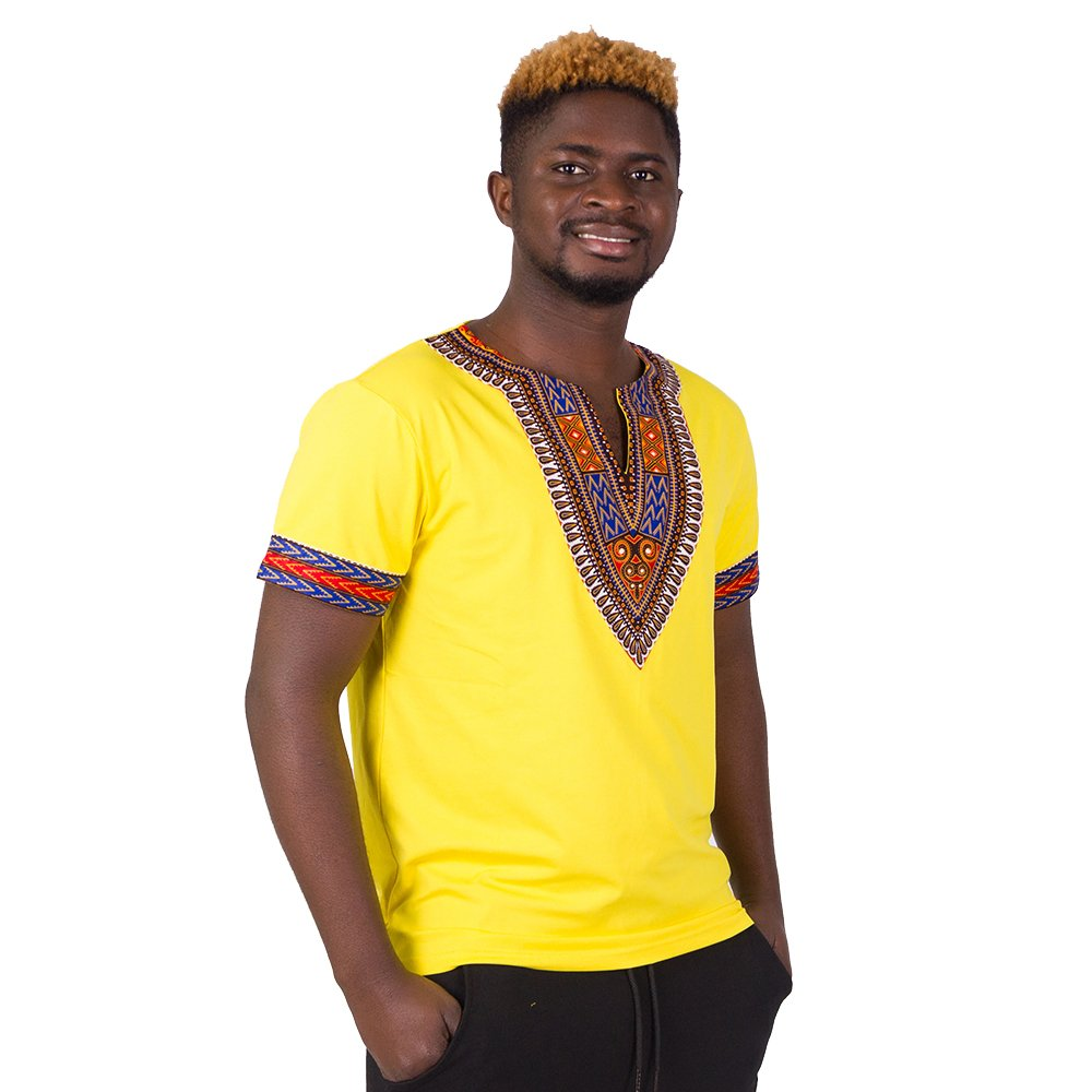 FANS FACE African Traditional Dashiki Men Fashion T-shirt Tops 2018 Nigeria Short Sleeve Plus Size by FANS FACE (Image #3)