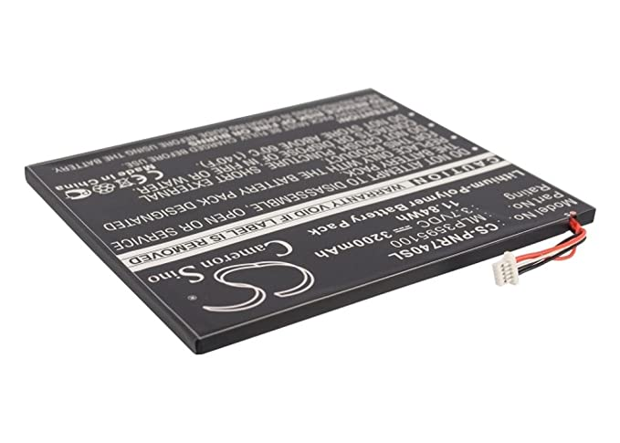EBook Reader Batería Li-polímero 3200 mAh/11.84 wh 3.7 V para ...