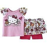 Hello Kitty bebé niñas verano vestido Tanga Rosa/Blanco weiß pink ...