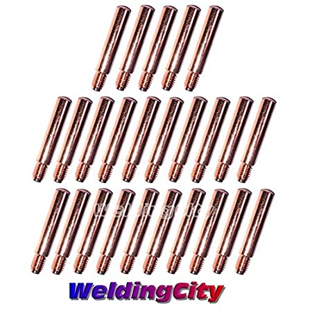 WeldingCity 25-pk MIG Welding Contact Tip 14-35 (0.035') for Lincoln Tweco MIG Guns 200-400A or No.2-No.4
