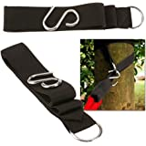 MiNiQ Hanging Hammock Tree Straps, Pack of 2 ,Coffee Color,Eco Friendly Material